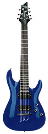Schecter Omen 7 Electric Guitar Picture Blue Color