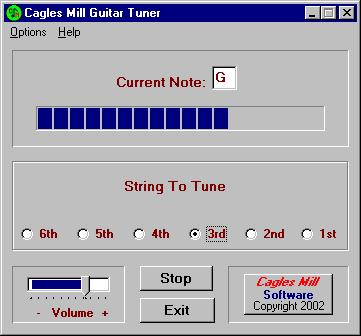 Cagles Mill Guitar Tuner
